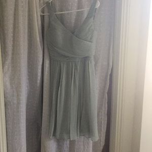 Sage green J Crew bridesmaid dress